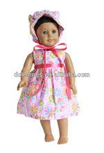 Moda 18 polegada American girl boneca roupas de boneca vestido