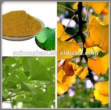 Flavones 24%(UV) / Terpene Lactones 6%(HPLC) Ginkgo Extract