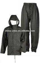 pvc high quality rain gear -rainsuit, pu/tricot rainsuit, jacket and trousers