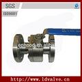 1/2~3 pulgadas manual de operación de forjado de acero inoxidable válvula de bola en manejar