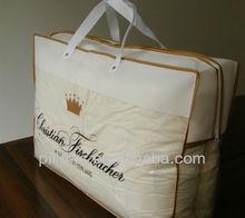 White bedding packaging for quilt/blanket/duvet/pillow