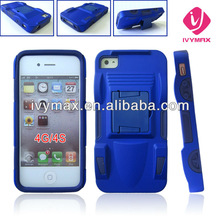 for Apple iPhone 4 4S - Sports Car Shape Rubber Silicone Skin Case Phone Cover