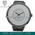 2013 ver na TV faça seu próprio relógio escudo da liga pulseira de couro genuíno relógio de quartzo