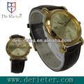 2013 atacado preço de fornecimento de playboy relógios cobre escudo de couro relógio de quartzo