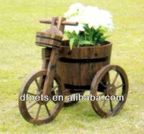 Madera wagon plantador otros paisajismo y suelos for Carreta de madera para jardin
