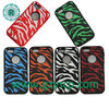 silicone and PC robot case for Iphone 5 zebra