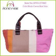 New Fashion Designer Ladies' Hand Bags Canvas Beach Bags 2014