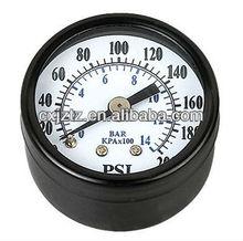 Y40 ZR Standard Manometer With Black Case ,Black Bezel, Back Coonction