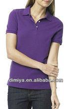 custom design cheap women's polo shirt maker, solid color ladies polo t shirt, female golf polo shirt factory / manufacturer