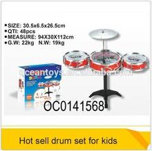 2014 hot plastic drum sets music instrumental for children toys OC0141568