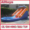 cheap high quality inflatable water slide, colorful inflatable jumping slide for kids