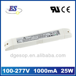 25W 1A 0-10V potentiometer Dimmable LED Driver