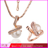 Gold jewelry supplier christmas gift set FPS148