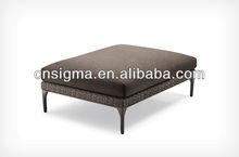 2014 New Design outdoor round rattan vintage footstool