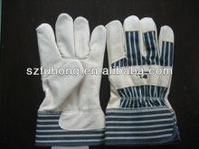 quality leather split pig for general work leather porter rigger glove