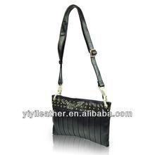 SF02-2013 Newest original design fashion leathe shoulder bag with decorative rivets ladies' vanity bags