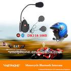 100m Motorcycle Bluetooth Intercom/interphone For Helmet Kit,Enabled Fm Radio,Mp3 Plug