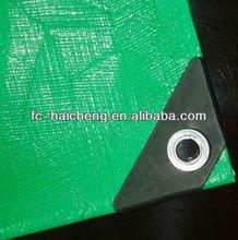 double coated green pe plastic tarpaulin sheet for cover/mat