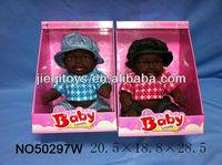 New 16 inch gift for girl black reborn baby dolls