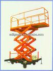 Work platform electricity/diesel power self propelled Four-wheel mobile scissor lift platform lift ladder lift table lifter