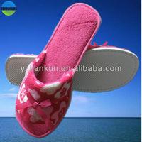 high grade open toe style coral fleece ladies indoor slipper