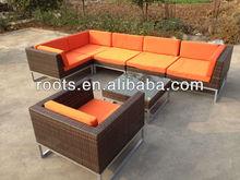 Choose UR 15CM CUSHION COLOUR! PATIO Garden 7G WICKER Outdoor FURNITURE Sofa SET