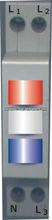AUP3 12V din rail mounting three phase railway signal lamp