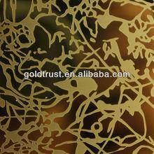 GT-014 Tin-Gold Stainless steel sheet mirror etching finish