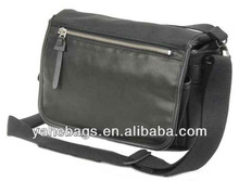 fashion canvas camera bag shiny leather trimming dslr camera bag