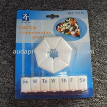 plastic 7 day pill box set