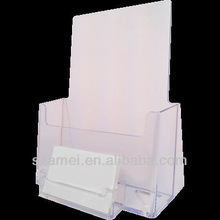 Acrylic Pamphlet Holder with Biz Card Pocket