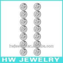 silver earring chandelier