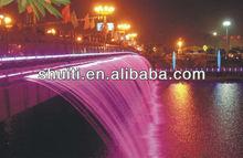 Bridge Waterfall, Long Music Water Curtain, Fountain Decorative Water Fall
