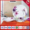 New wave shape fine china porcelain tableware sets with floral design(SHS3061)