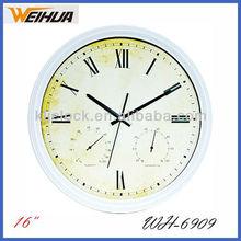 Sweep Movement Wall Clock WH-6909 Fashion Plastic Wall Clock Unique Wall Clock Designs