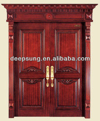 Luxurious style solid wood timber exterior door for Decoration