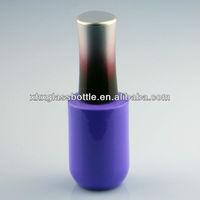 Nail art design China wholesale purple UV gel nail polish glass bottle