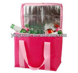 OEM promotional heavy bulk insulated non woven pp woven cooler bag wholesale cooler bag