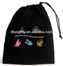 2014 Cotton drawstring sport shoe bag with custom printing