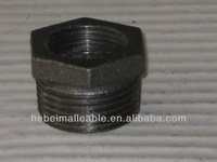 """1/2""""NPT black malleable iron pipe fitting reducing bushing"""
