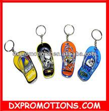 promotional plastic slipper /shoe keychain/keyring