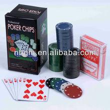 75 pcs Texas Hold Em Poker Set Complete in paper Box/mini poker set