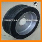 small wheels, New Solid Rubber Tires with Rims for Railway Swing Vehicles