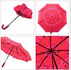 Red 3 Fold Auto Open &amp; Close Umbrella