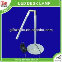 CE/ROHS metal base alloy tube 2W 22 LEDs USB touch LED desk lamp
