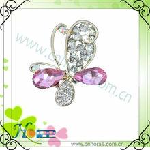 2013 lady butterfly shape rhinestone brooch,butterfly rhinestone ornament