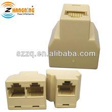 rj45 3 forma de rede de cabo splitter extender plug acoplador