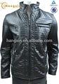Quilited mens jaquetas de couro com o stand up colarinho, slim fit homens jaqueta de couro pu