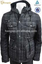 Mens long john jacket, brand label garment