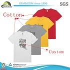 Custom blank cotton wholesale blank t shirts